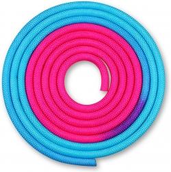 Скакалка гимнастическая INDIGO голубой-розовый