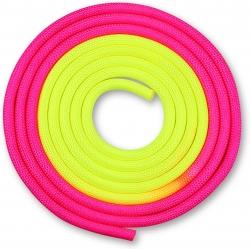 Скакалка гимнастическая INDIGO желто-розовый