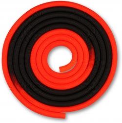 Скакалка гимнастическая INDIGO красно-черная