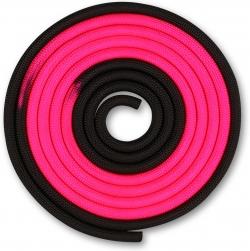Скакалка гимнастическая INDIGO розово-черная