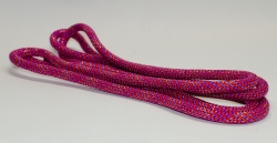 Скакалка SQ фиолетовая с люрексом
